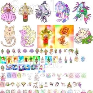 Original copyright free illustration picture dragon animal new year kadomatsu christmas print image material 950 items